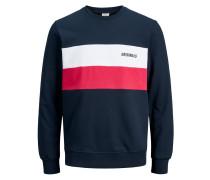 Sweatshirt nachtblau / rot / weiß