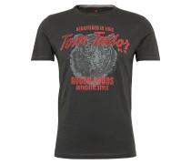 T-Shirt 'basic slub Nos' braunmeliert