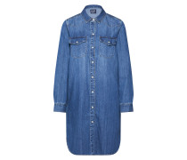 Kleid 'western Shirtdrs MED Barlow' blue denim
