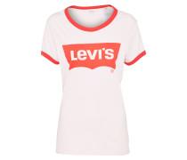 Shirt 'perfect Ringer' beige / rosa / rot