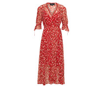 Kleid 'rosa Print Dress IN Muslin Viscose'