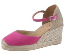Sandalette beige / fuchsia
