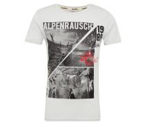 T-Shirt 'm84 Alpenrausch' graphit / weiß
