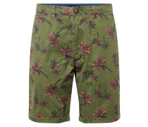 Shorts oliv / rot