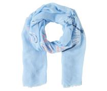 Schal mit Libellen hellblau