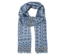Weicher Schal mit All Over-Print blau