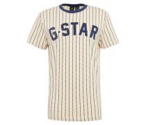 T-Shirt 'wabash' beige / blau