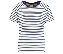 T-Shirt taubenblau / offwhite