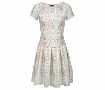 Scuba-Kleid rosa / weiß