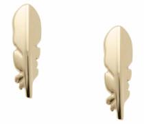 Paar Ohrstecker 'Federn' gold