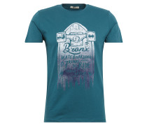 T-Shirt 'manepe T/s' hellgrau / petrol