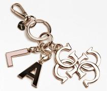 Schlüsselanhänger gold / rosa / schwarz