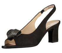 Sandalen silbergrau / schwarz