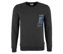 Sweatshirt blau / anthrazit / weiß