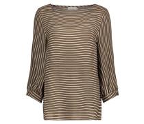Bluse im Streifen Design khaki