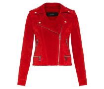 Jacke ' Suede' rot