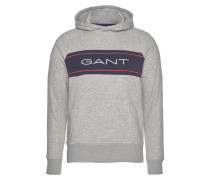 Sweatshirt kobaltblau / hellgrau / feuerrot