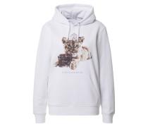Sweatshirt braun / weiß / beige
