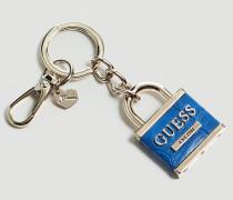 Schlüsselanhänger 'Anne Marie' blau / silber