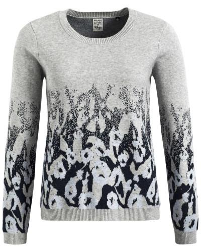 Pullover 'olara' grau / schwarz