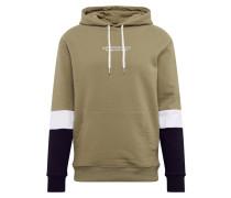 Sweatshirt oliv / navy / weiß