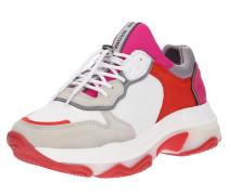 Sneaker Low pink / rot / weiß