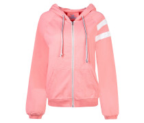 Sweatshirt 'Gilly the Sweat' pink / weiß