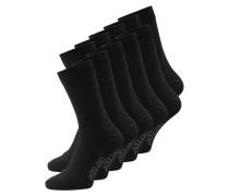 10er Pack schlichte Socken schwarz