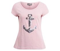 T-Shirt hellpink / silber