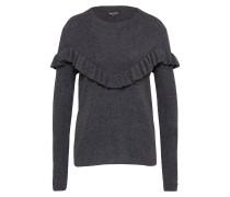 Pullover 'frills Vshape' schwarz