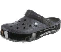 Clog 'Glitter Sil Crocband' schwarz