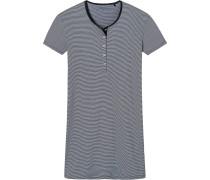 Nachthemd dunkelblau / weiß