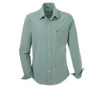 Trachtenhemd im Karo-Design grün / weiß
