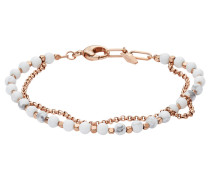 Armband mit Howlith rosegold / weiß