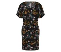 Kleid 'butterfly' mischfarben / schwarz