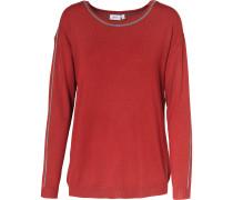 Pullover grau / rot