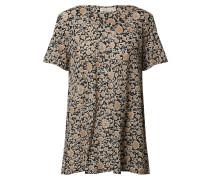 Shirt 'Klara' brokat / schwarz