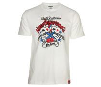 T-Shirt 'Hawleywood' weiß