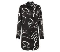 Satin-Kleid 'Jude' schwarz / weiß