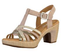 Sandalen beige / altrosa / silber