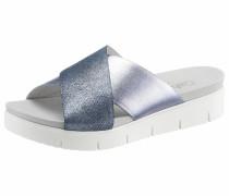 Pantolette taubenblau