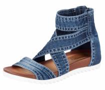 Sandalette im Denim-Look