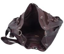 Beuteltasche Leder 30 cm schoko