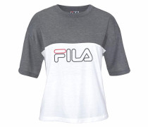 T-Shirt »Blisse Tee« grau / weiß