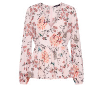 Bluse 'floral' grün / orange / rosa