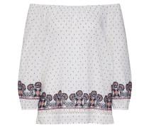 Bluse 'Stitching' creme / navy