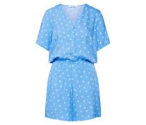 Jumpsuit 'Malorie' blau / weiß