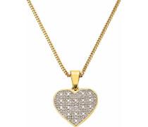 Kette mit Anhänger »Herz« gold / silber