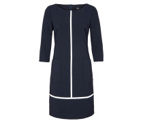 Kleid kobaltblau / weiß