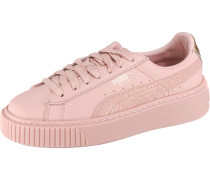 Sneaker 'Basket Platform Eu' gold / rosa